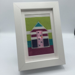 Beach Hut 'n Boats Framed Pictures with Beach Hut & Boat Applique Designs