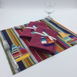 Multi-striped placemat with...