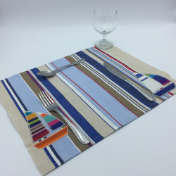 Blue and beige placemat...