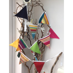 Custom striped bunting for your home, conservatory, campervan or caravan