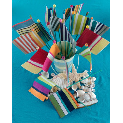Striped sandcastle flags